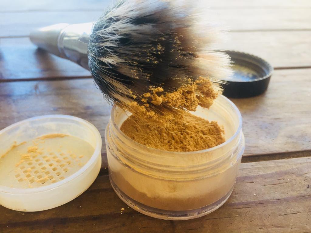polvo de acabado casero