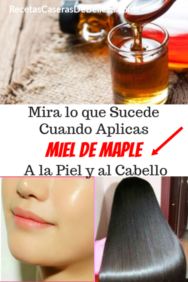 Mascarilla Facial y Capilar de Sirope de Arce