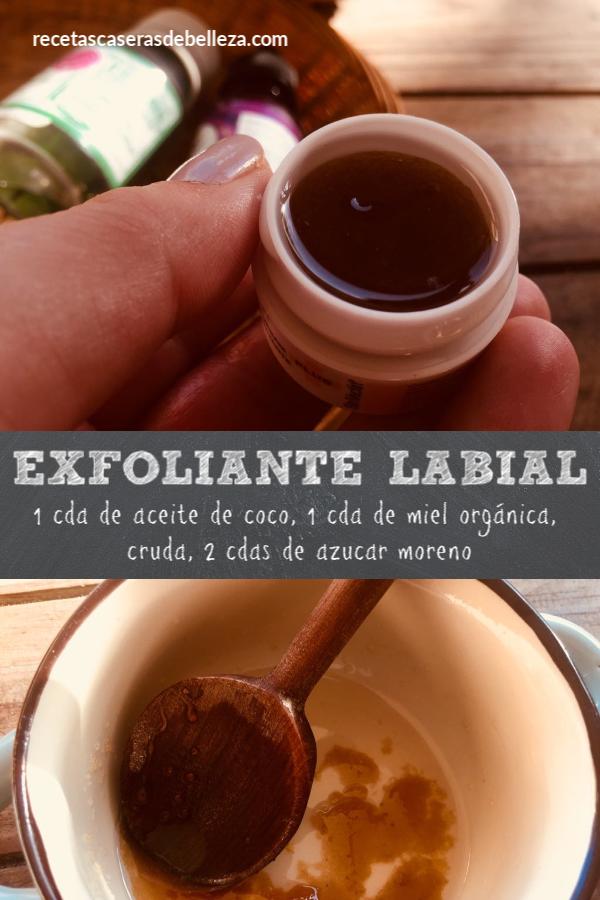 Receta Casera de Exfoliante Labial