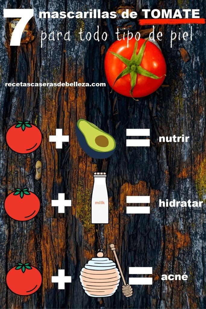 Mascarillas faciles De Tomate