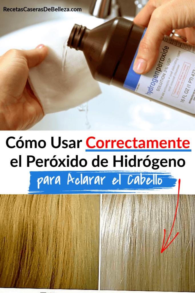 Cómo aclarar el cabello con peróxido de hidrógeno